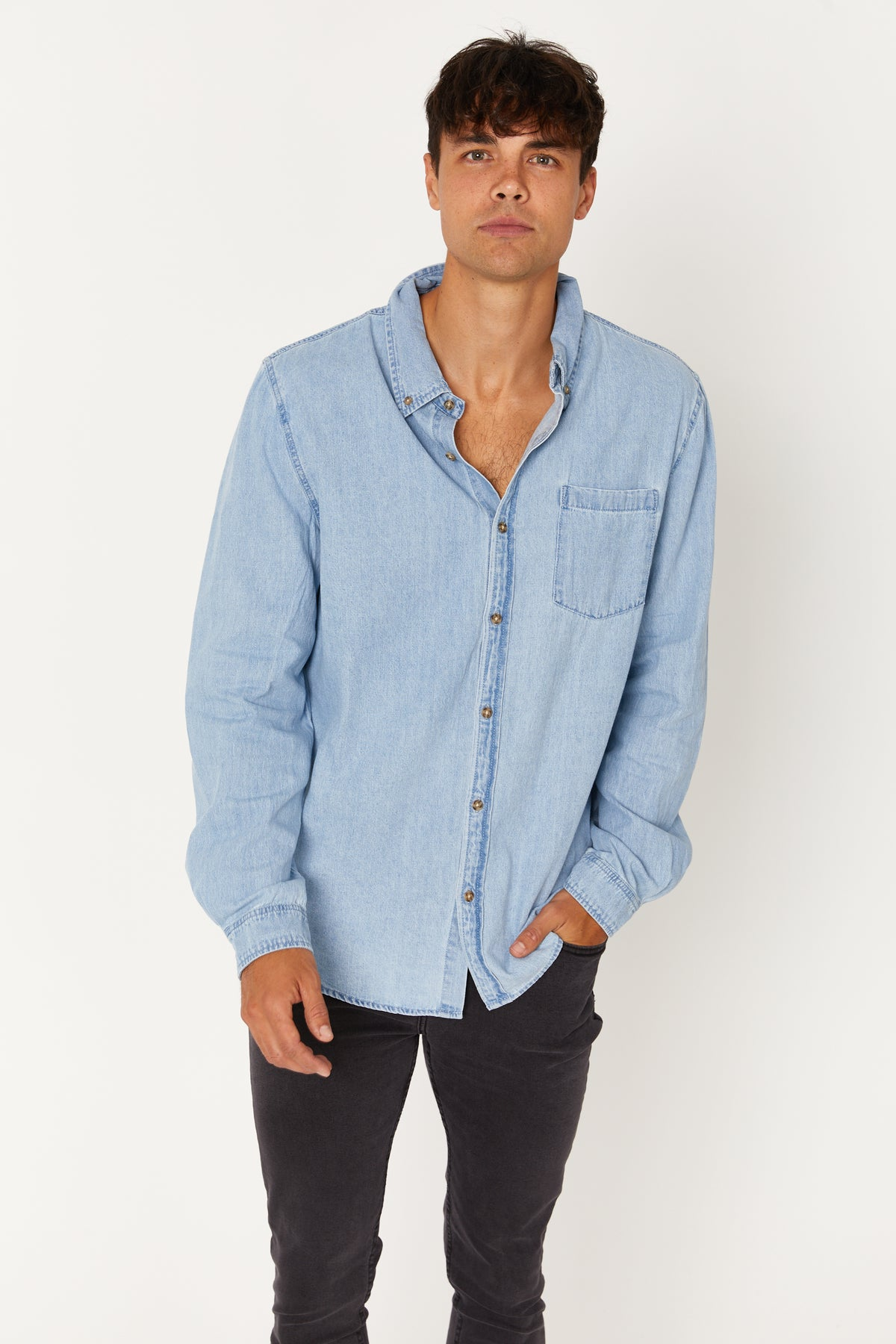 NTH Staple Denim Shirt Blue