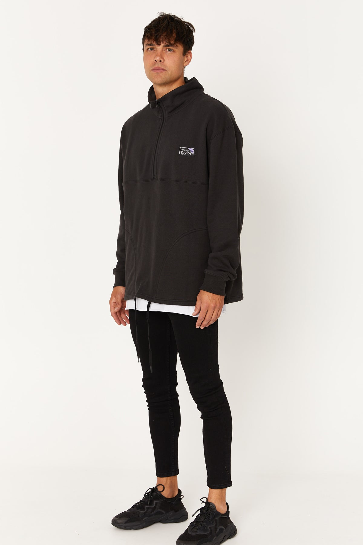 Half Zip Sweater Washed Black