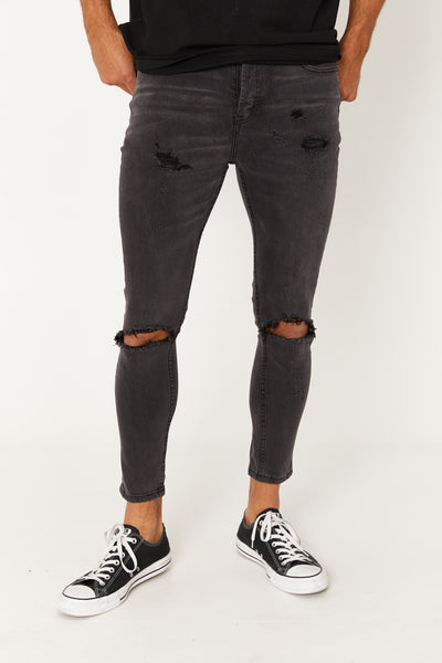 Nth Distressed Denim Wash Black