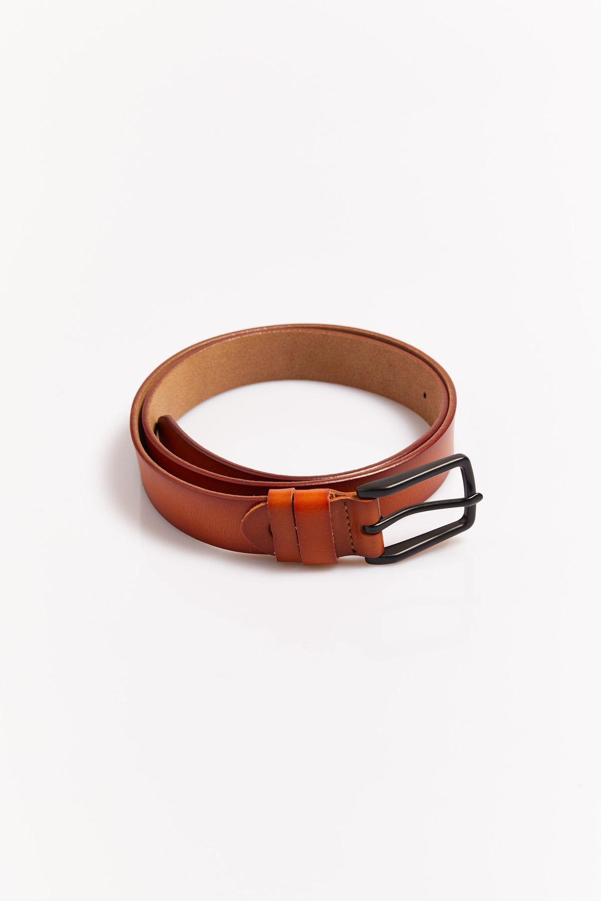 Mens Basic Leather Belt Tan