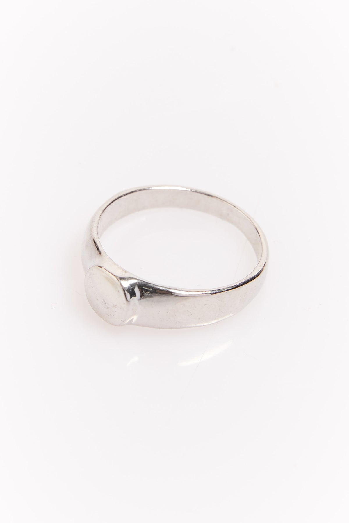 Nth Circle Signet Ring Silver