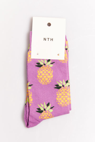 Nth Pineapple Sock Purple