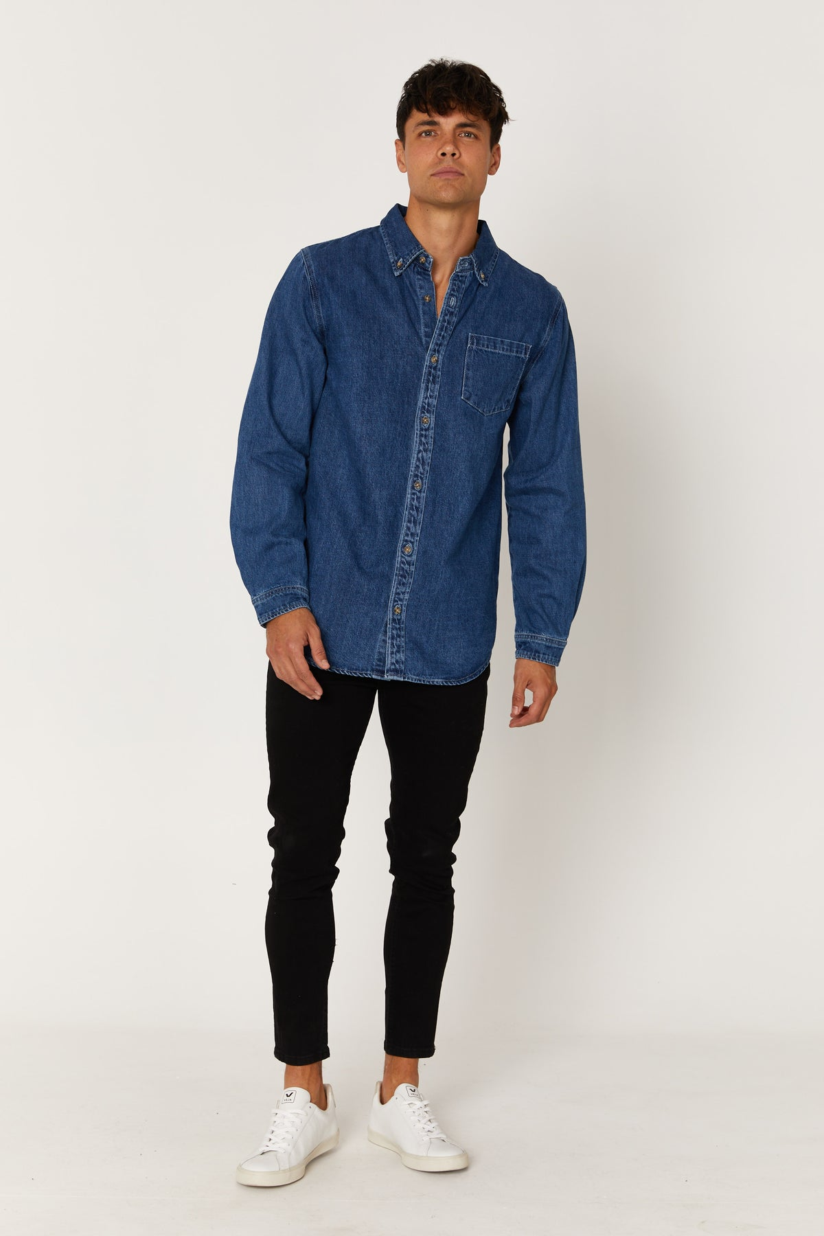 NTH Staple Denim Shirt Indigo