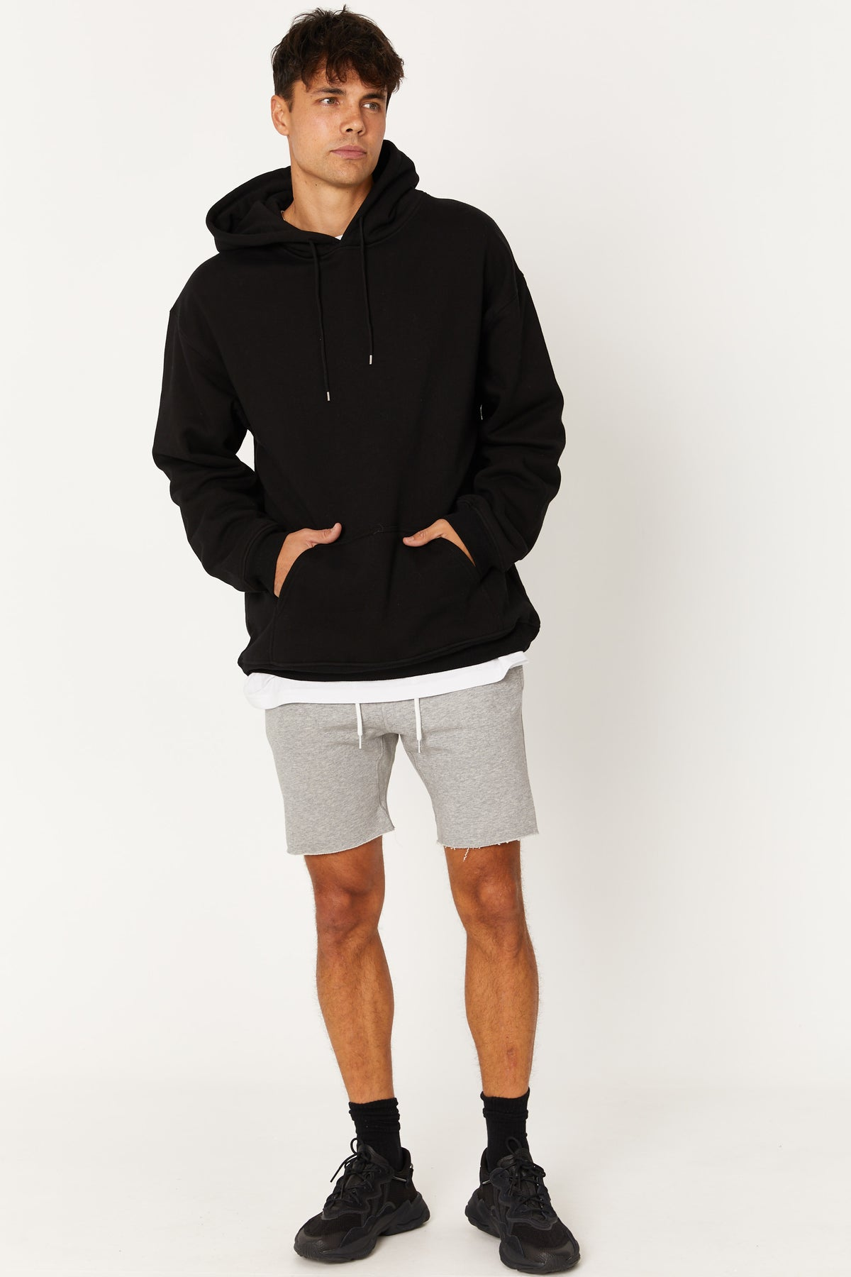 Panel Fleece Short Grey