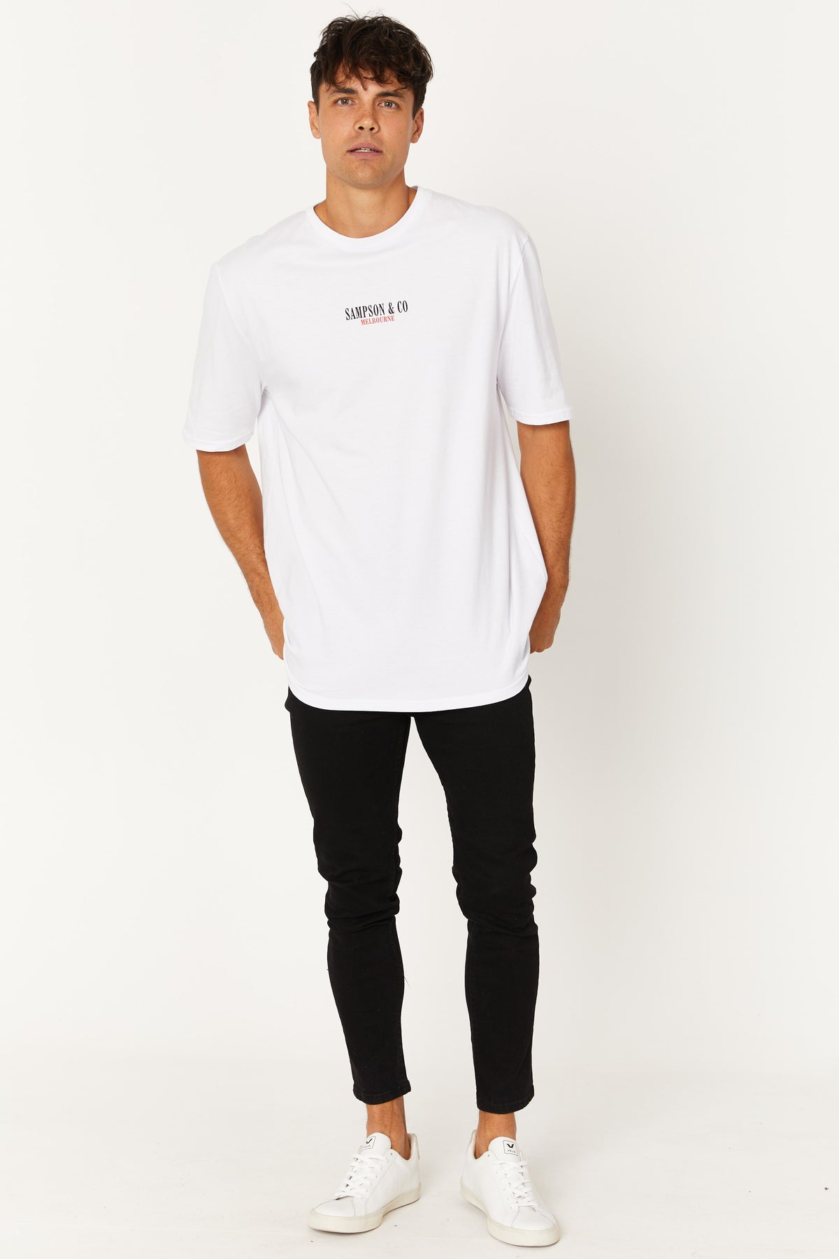 Washed Tee Sampson Melbourne White