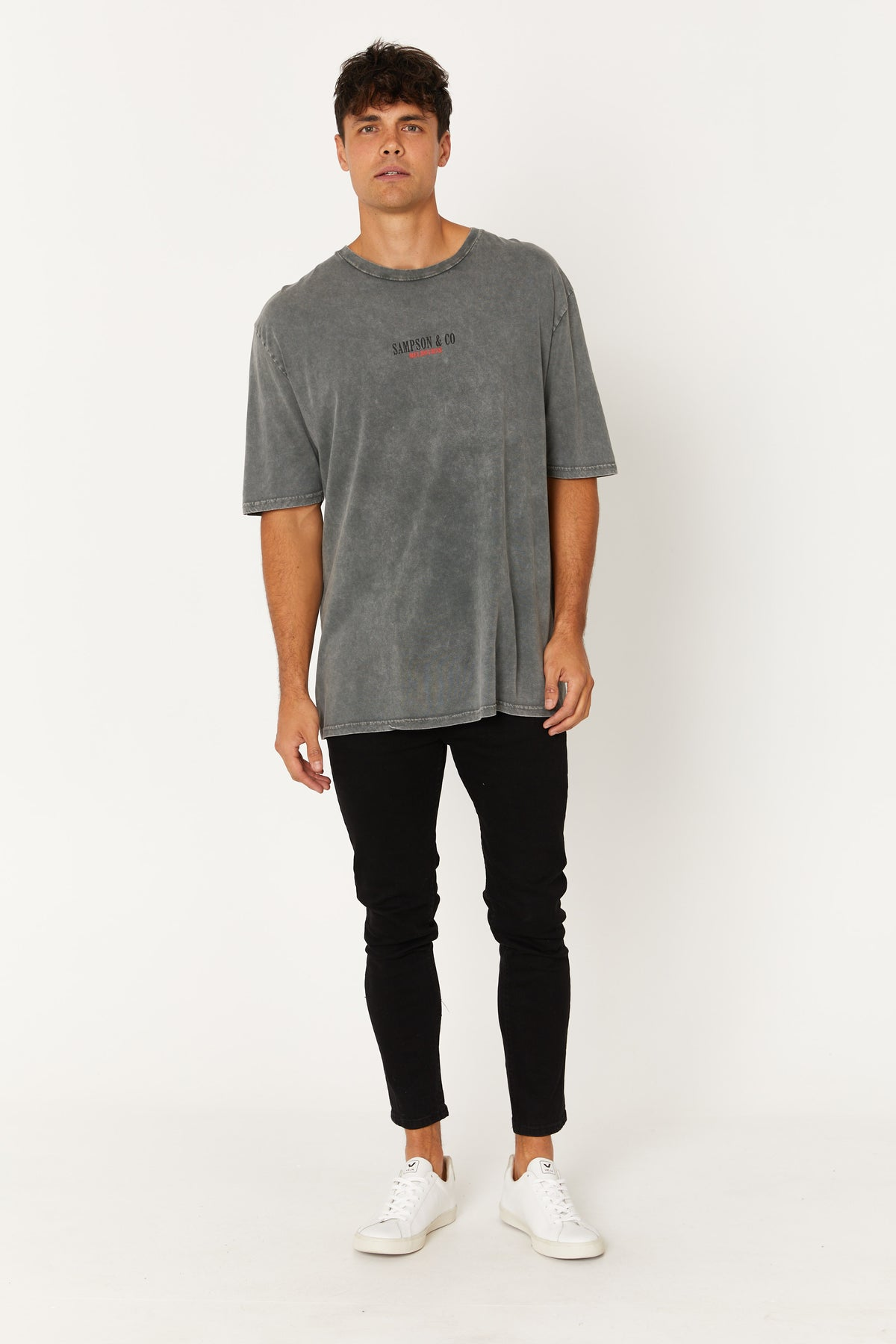 Washed Tee Melbourne Grey