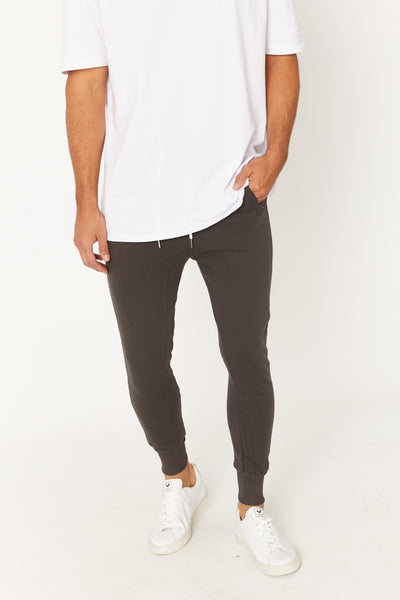 Phil Skinny Track Pant Wash Black