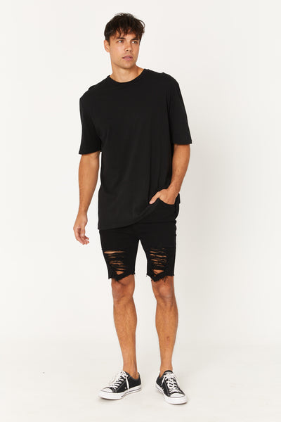 Ezra Drop Short Deep Black