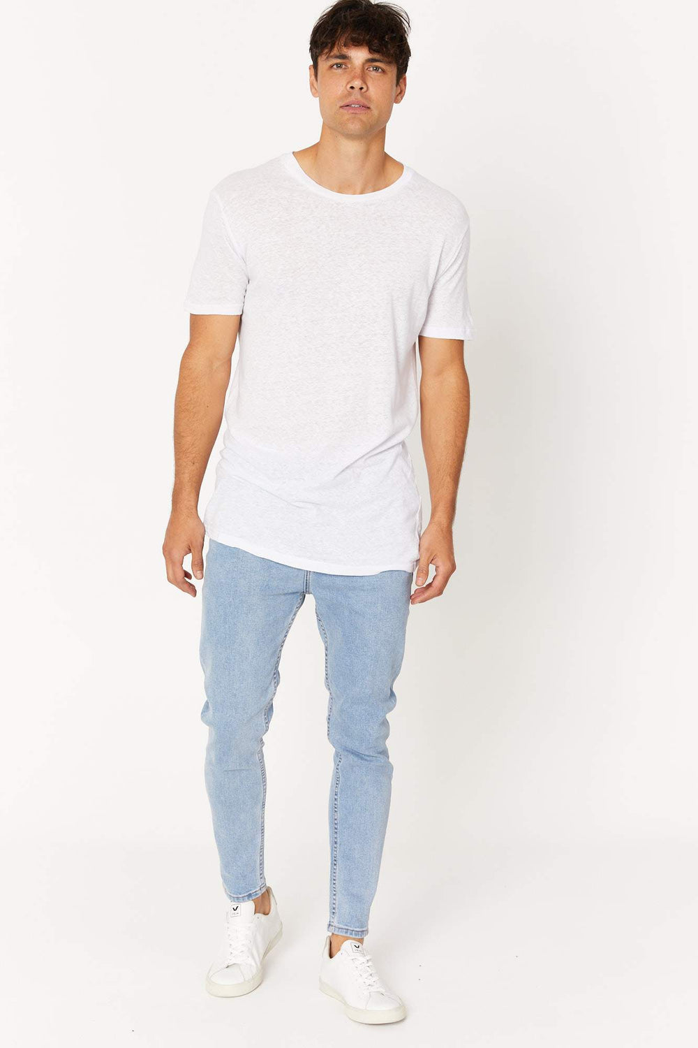 Jules Slim Denim Washed Blue