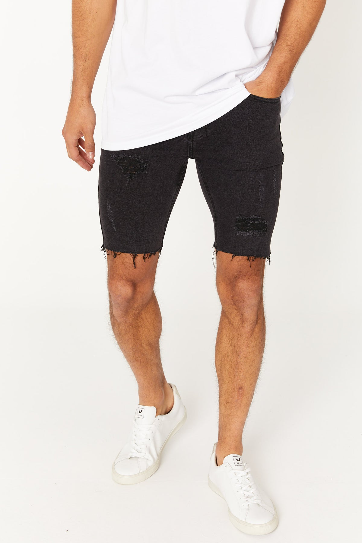 Billy Denim Short Black