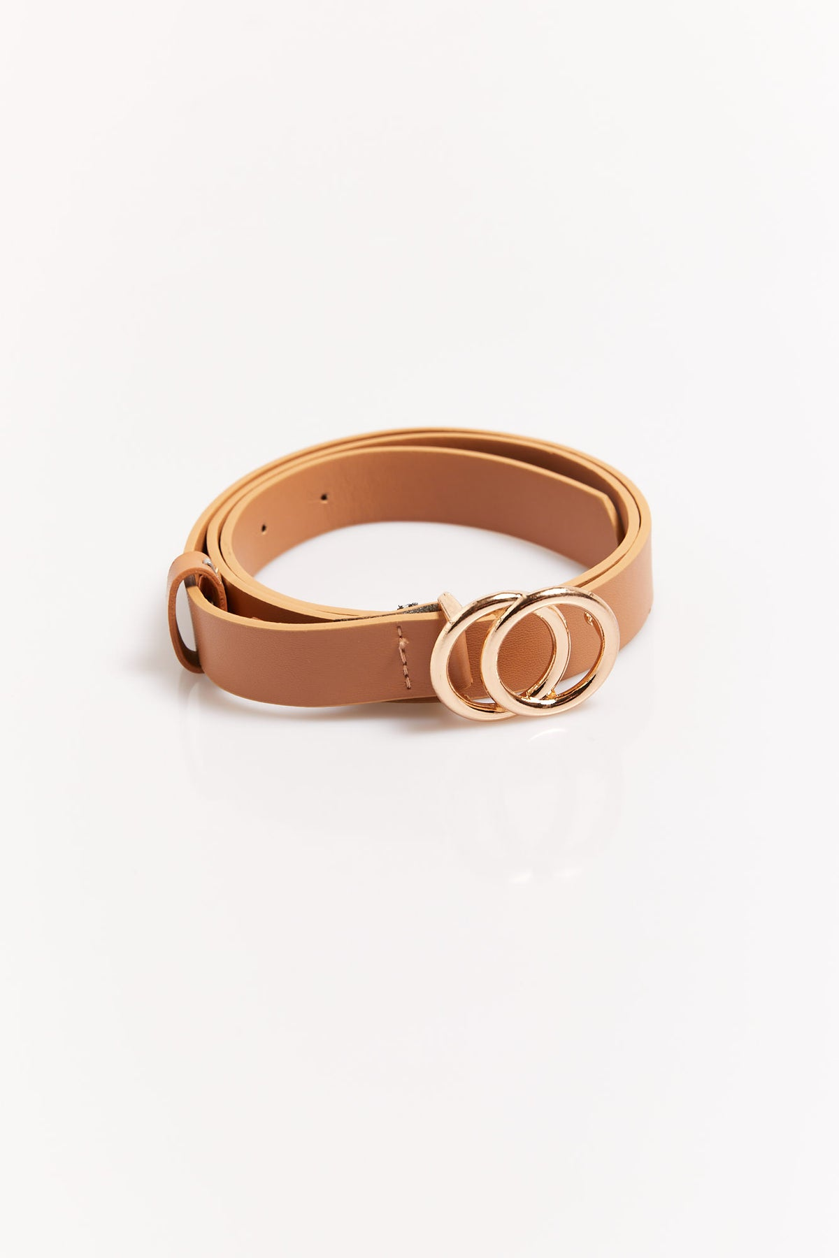 Mini Circle Belt Tan/Gold