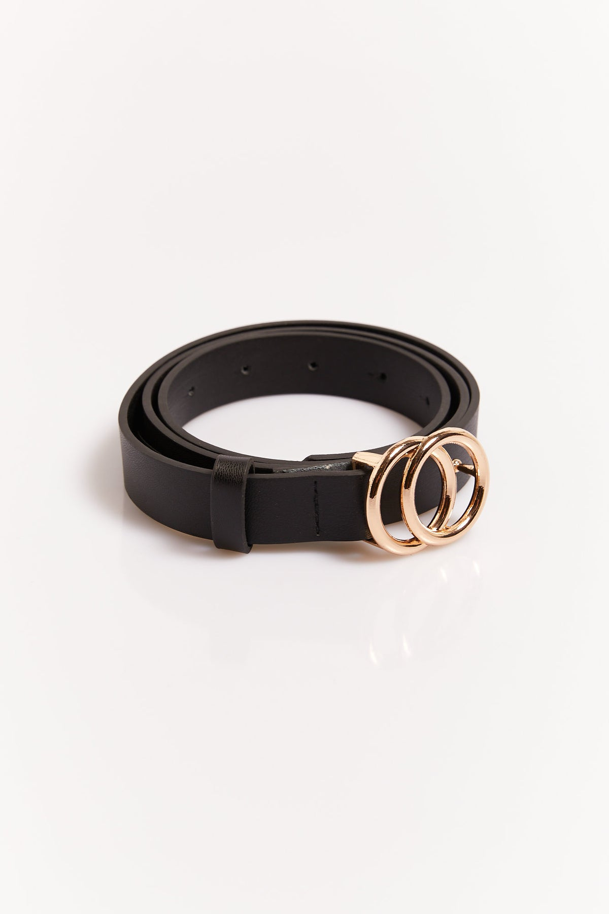 Mini Circle Belt Black/Gold