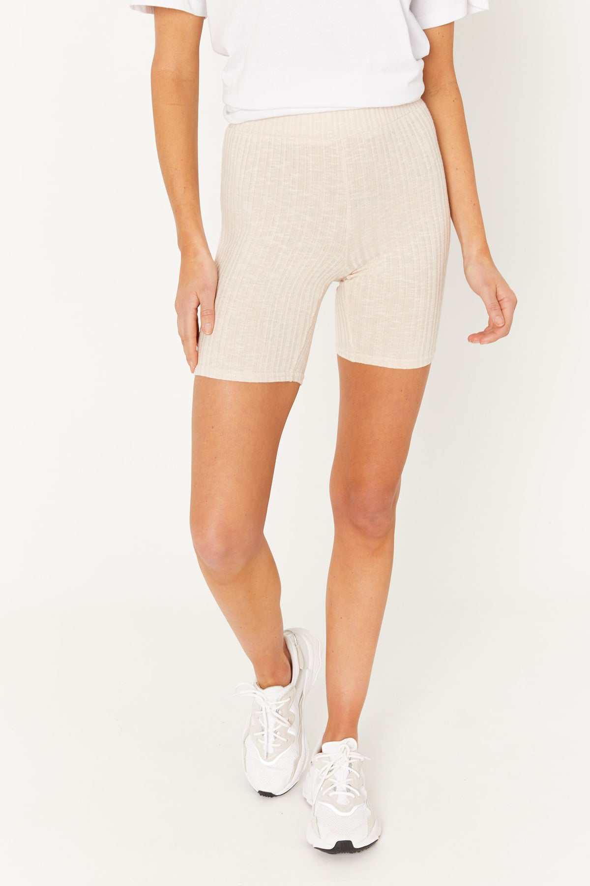 Kaia Ribbed Short Nude