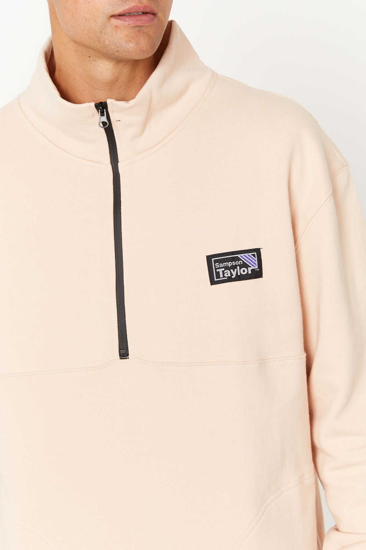 Half Zip Sweater Washed Sand
