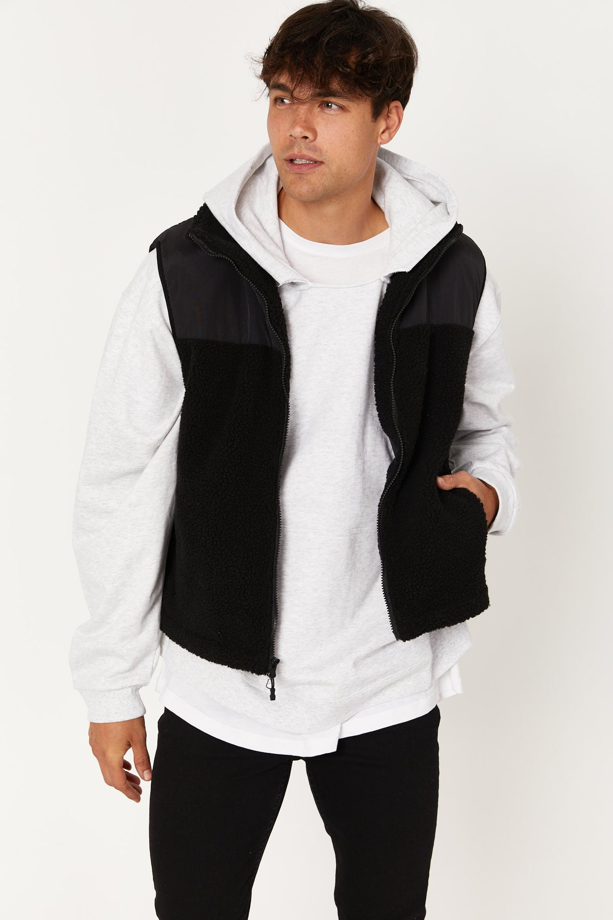 Alex Panelled Vest Black - SALE