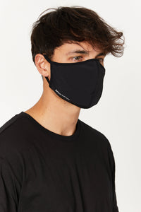 Face Mask Black Logo