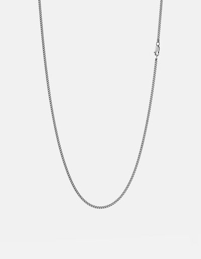 Miansai 2mm Cuban Chain Necklace Sterling Silver