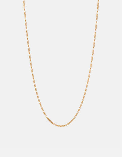 Miansai 2mm Cuban Chain Gold