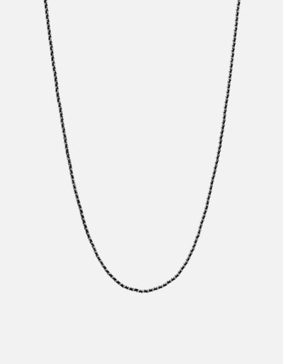 Miansai 2mm Woven Chain Necklace Sterling Silver