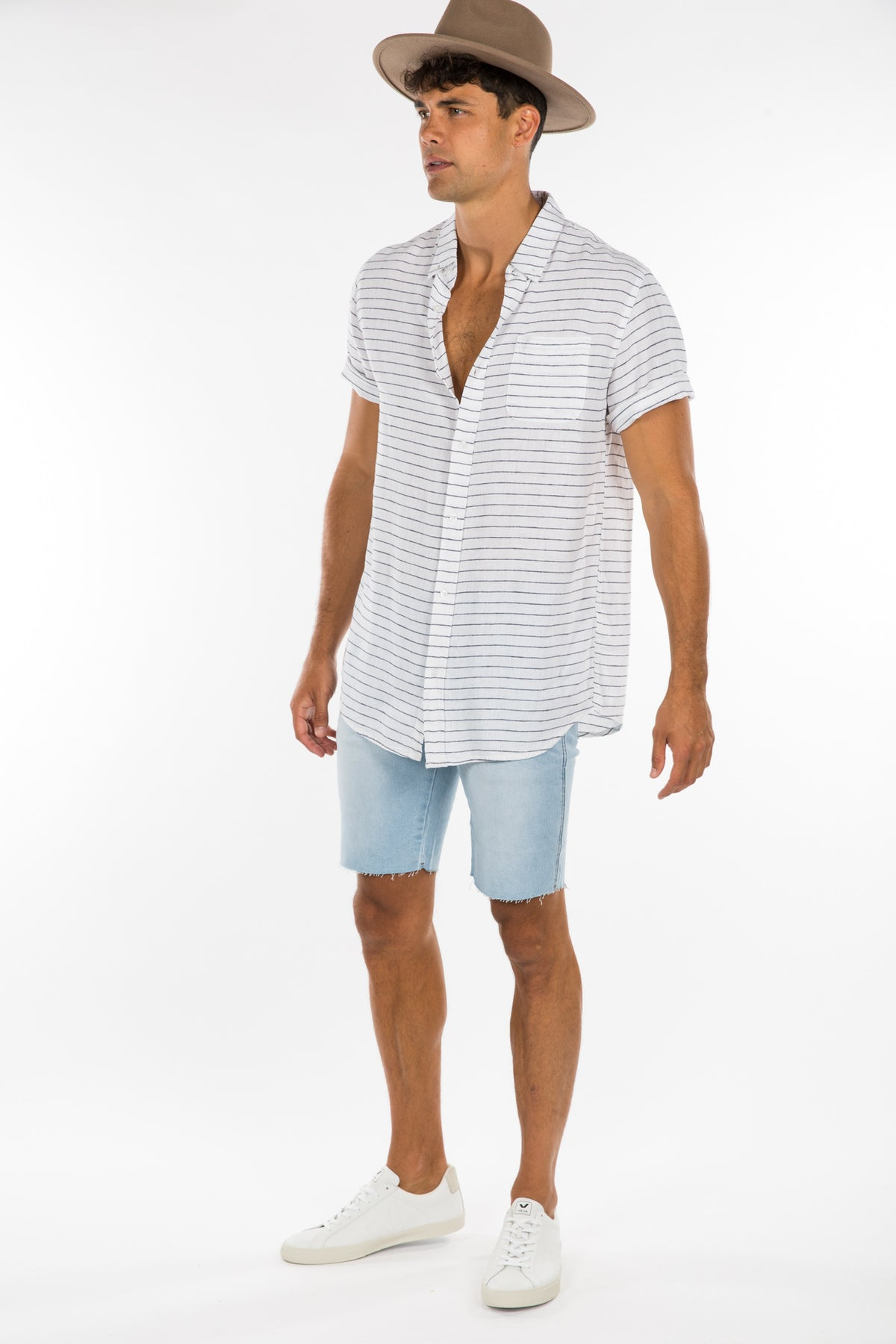 Soft Linen Stripe Shirt Horizontal