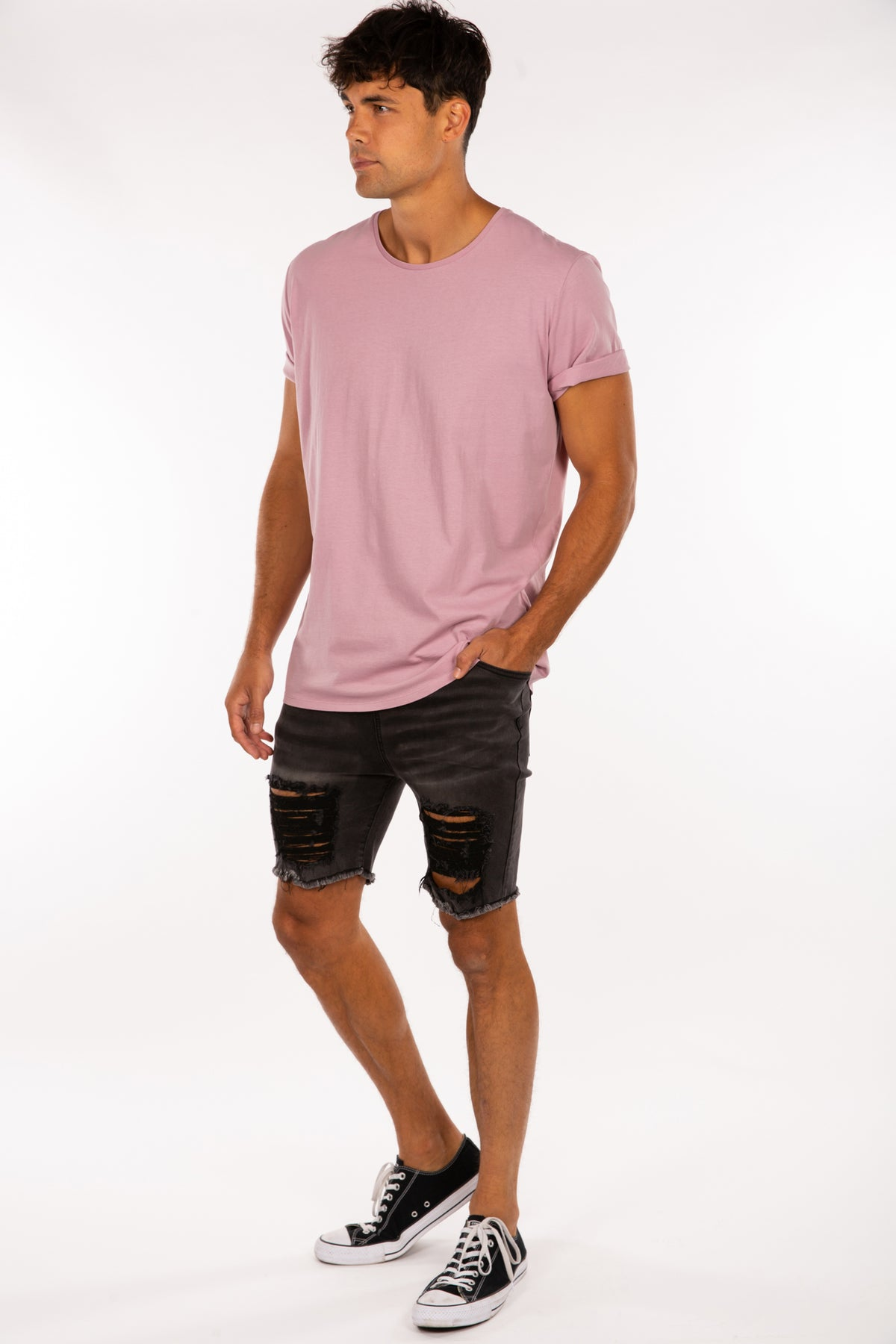 Henry Fitted Arm Tee Soft Pink