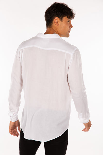 Jack Boating Long Sleeve Shirt White
