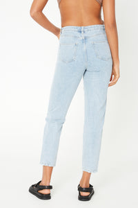 Celeste Mom Jean Washed Blue