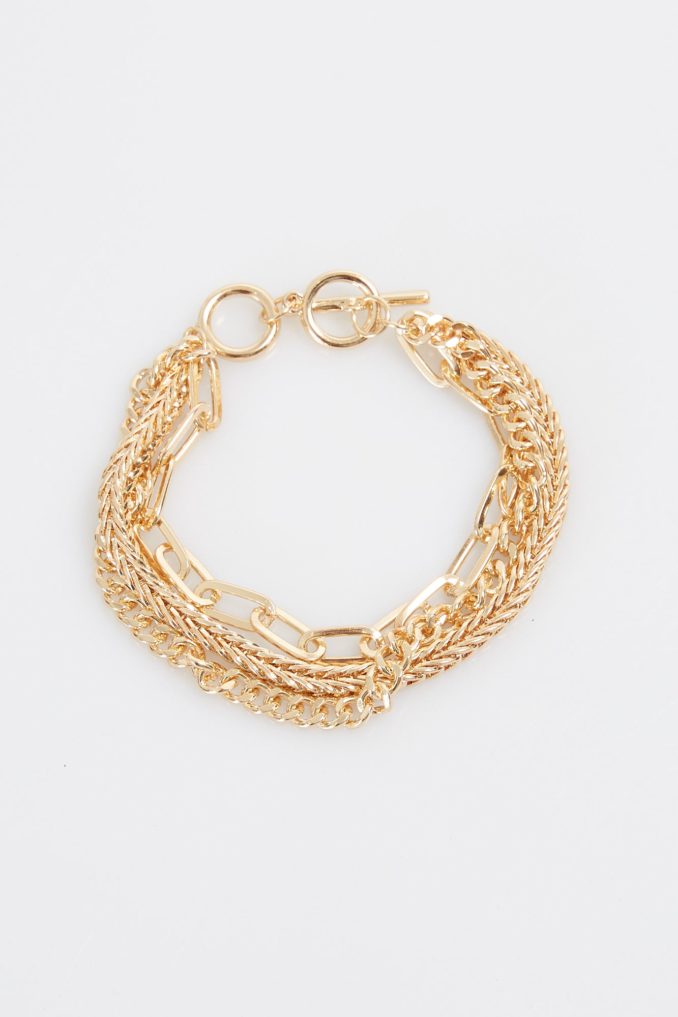 Nth Multi Chain Bracelet Gold