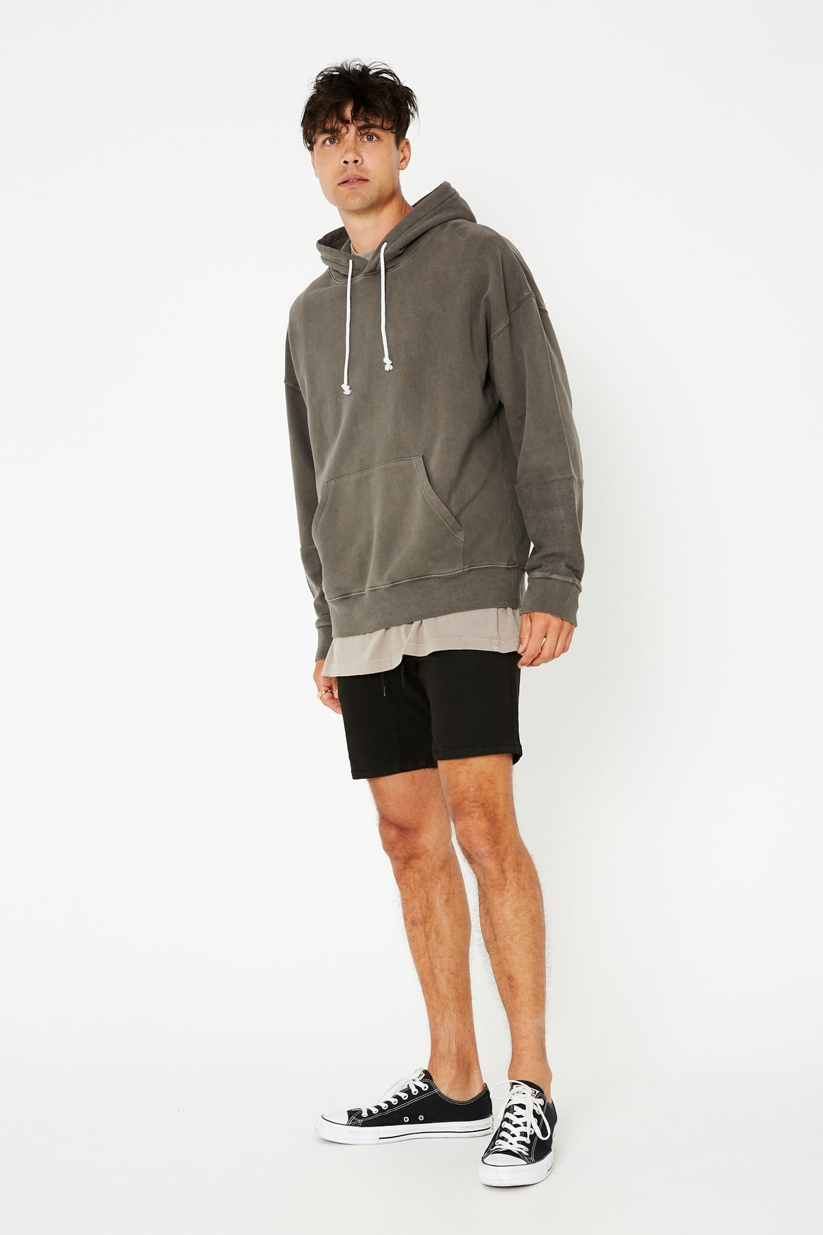 Constructed Hoody Charcoal