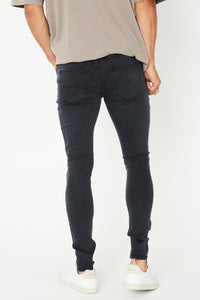NTH Slim Denim Worn Black