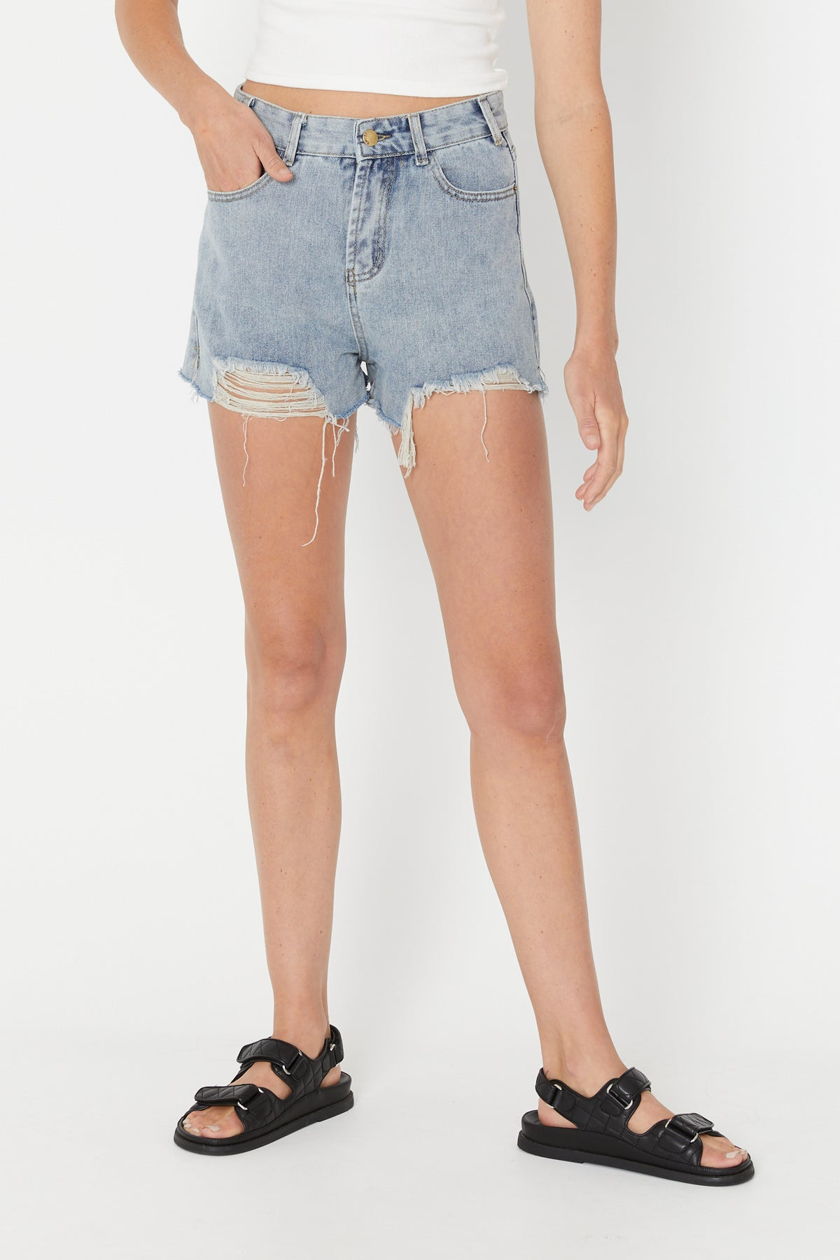 Penelope Denim Short Blue