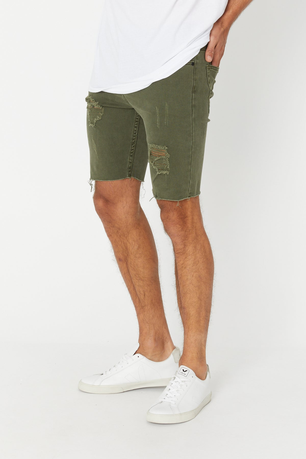 Billy Denim Short Army