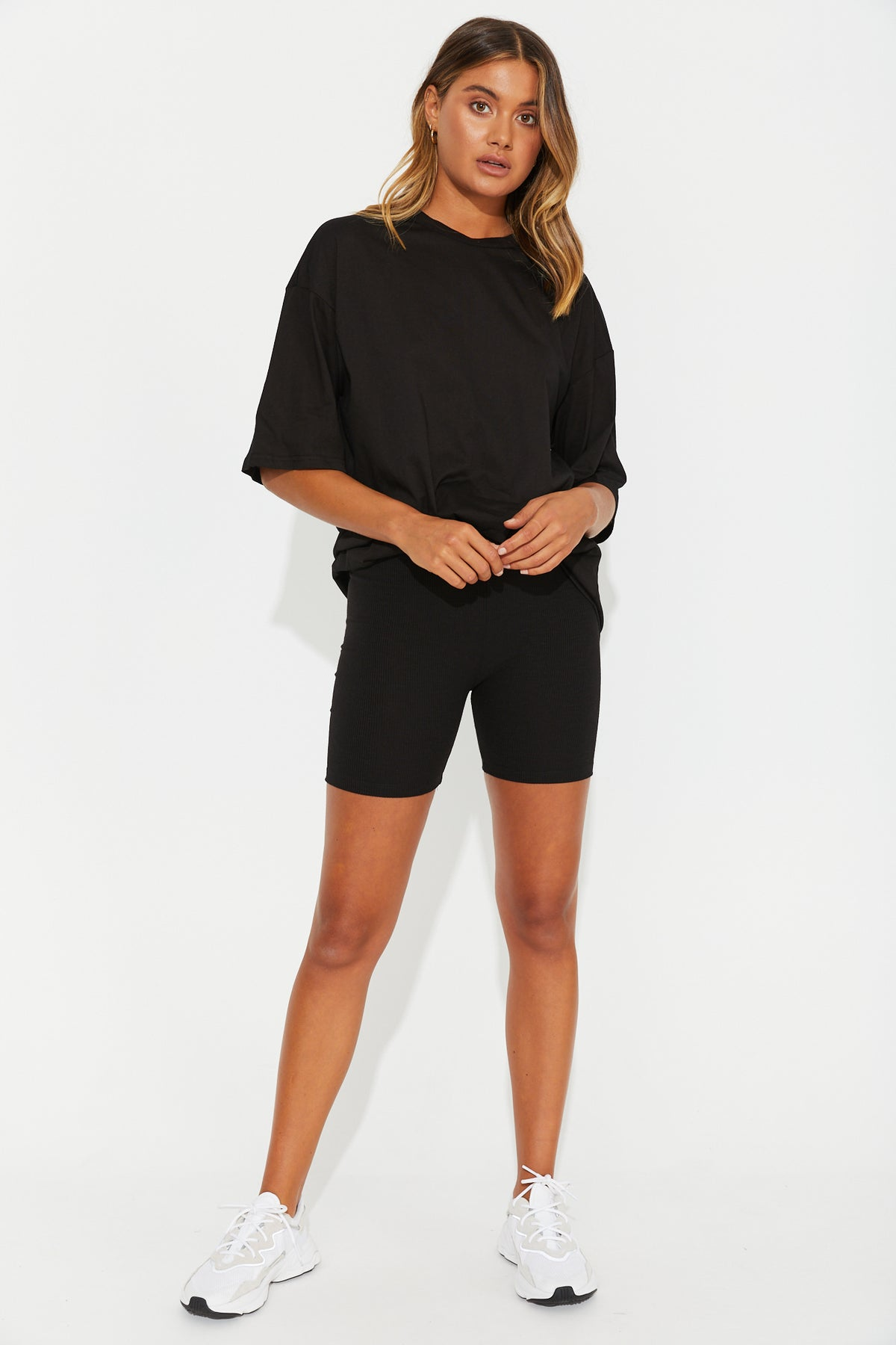 Koko Ribbed Bike Short Black