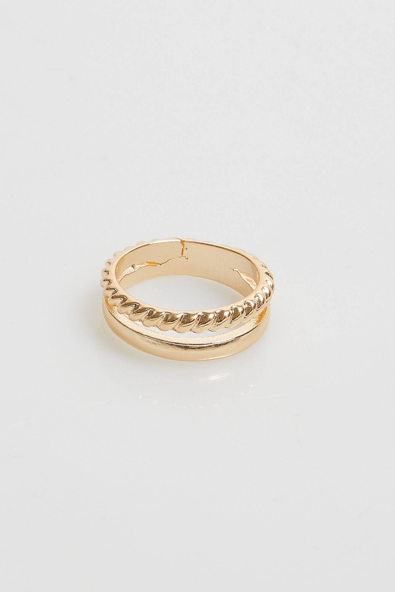 Elly Stacked Ring Gold