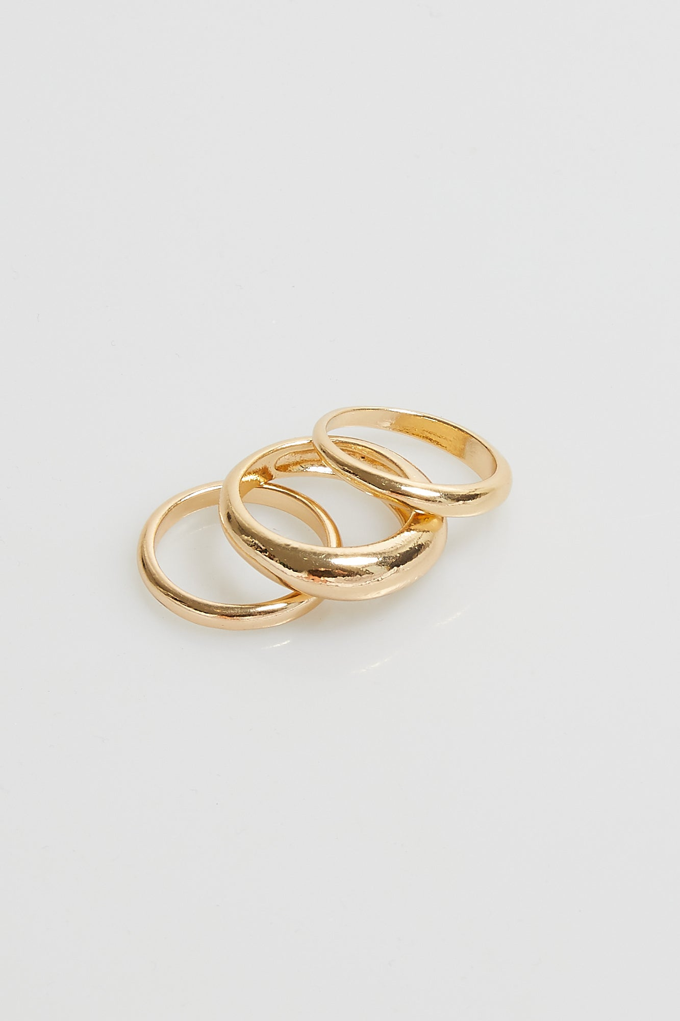 Rosa Stacking Rings Trio Set Gold