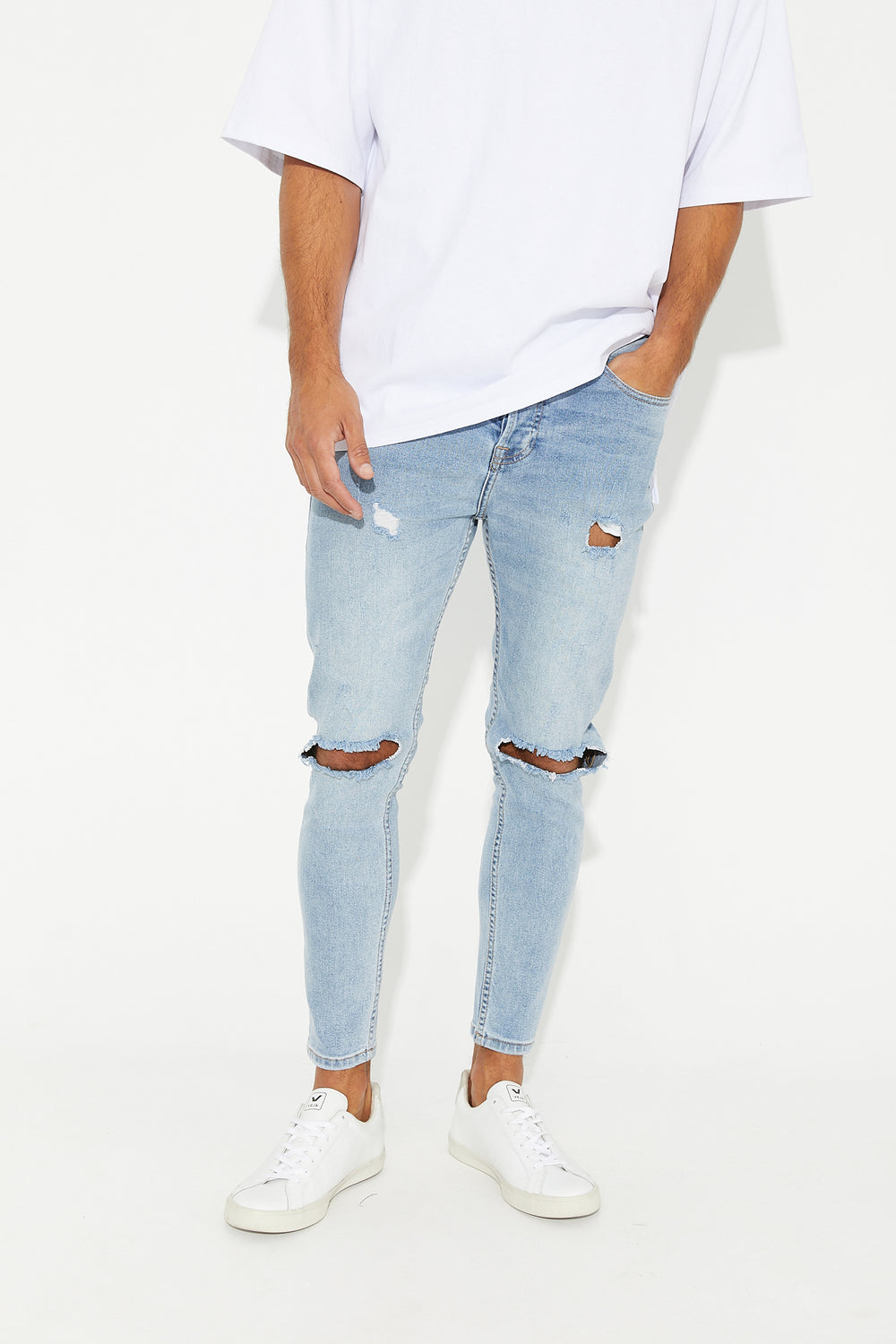 Nth Distressed Denim Light Blue