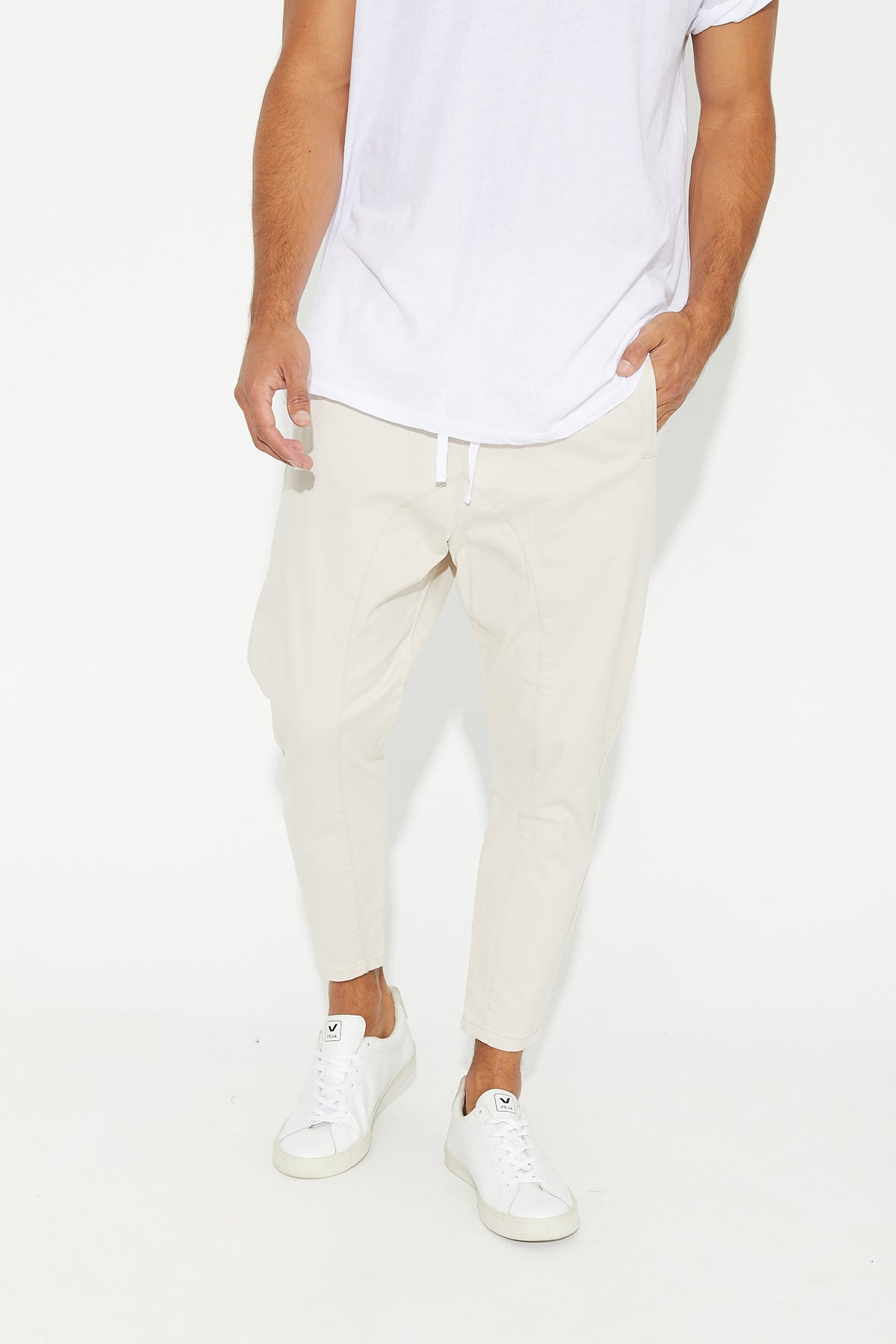 Pierce Drop Crotch Pant Light Sand