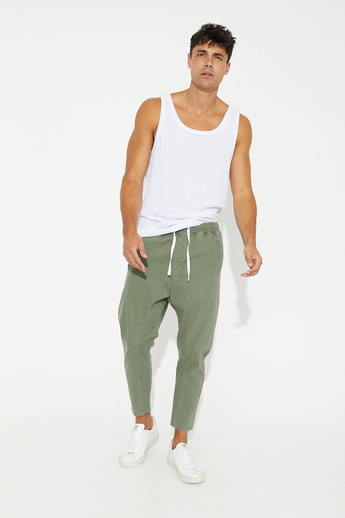 Pierce Drop Crotch Pant Khaki