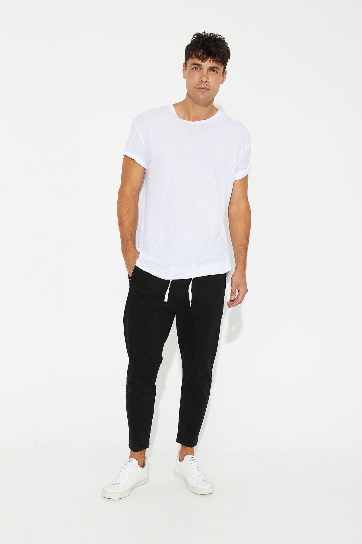 Pierce Drop Crotch Pant Black