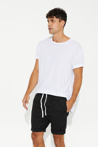Sam Relaxed Chino Short Black - SALE