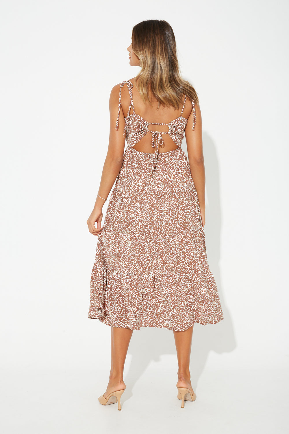 Romina Midi Dress Rust