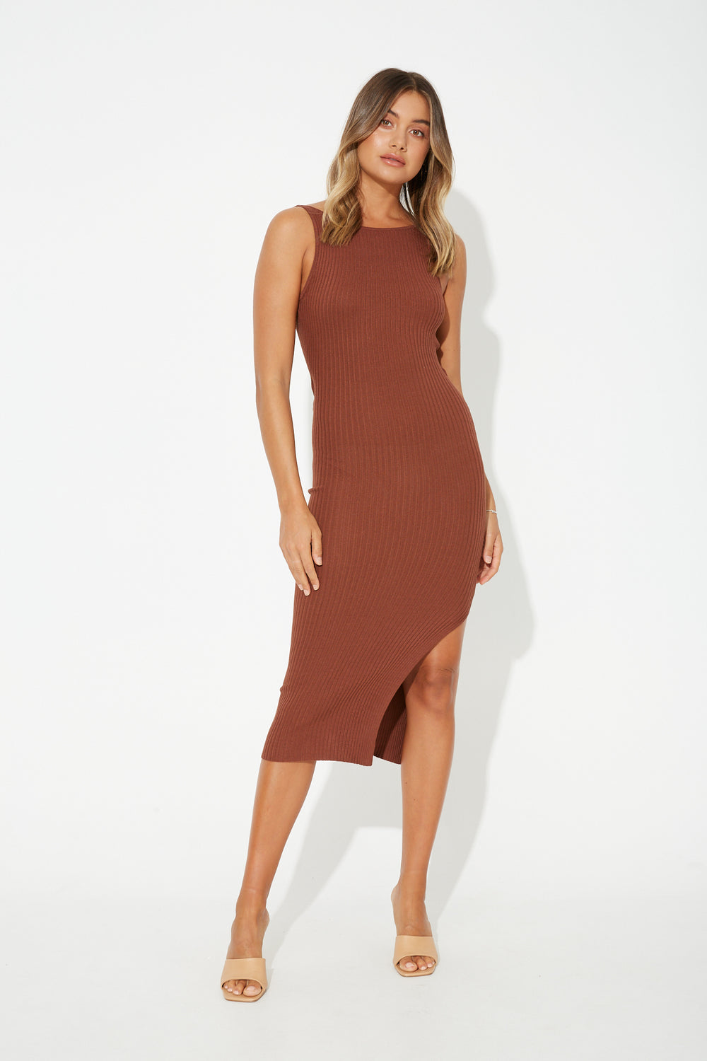 Mya Midi Dress Rust