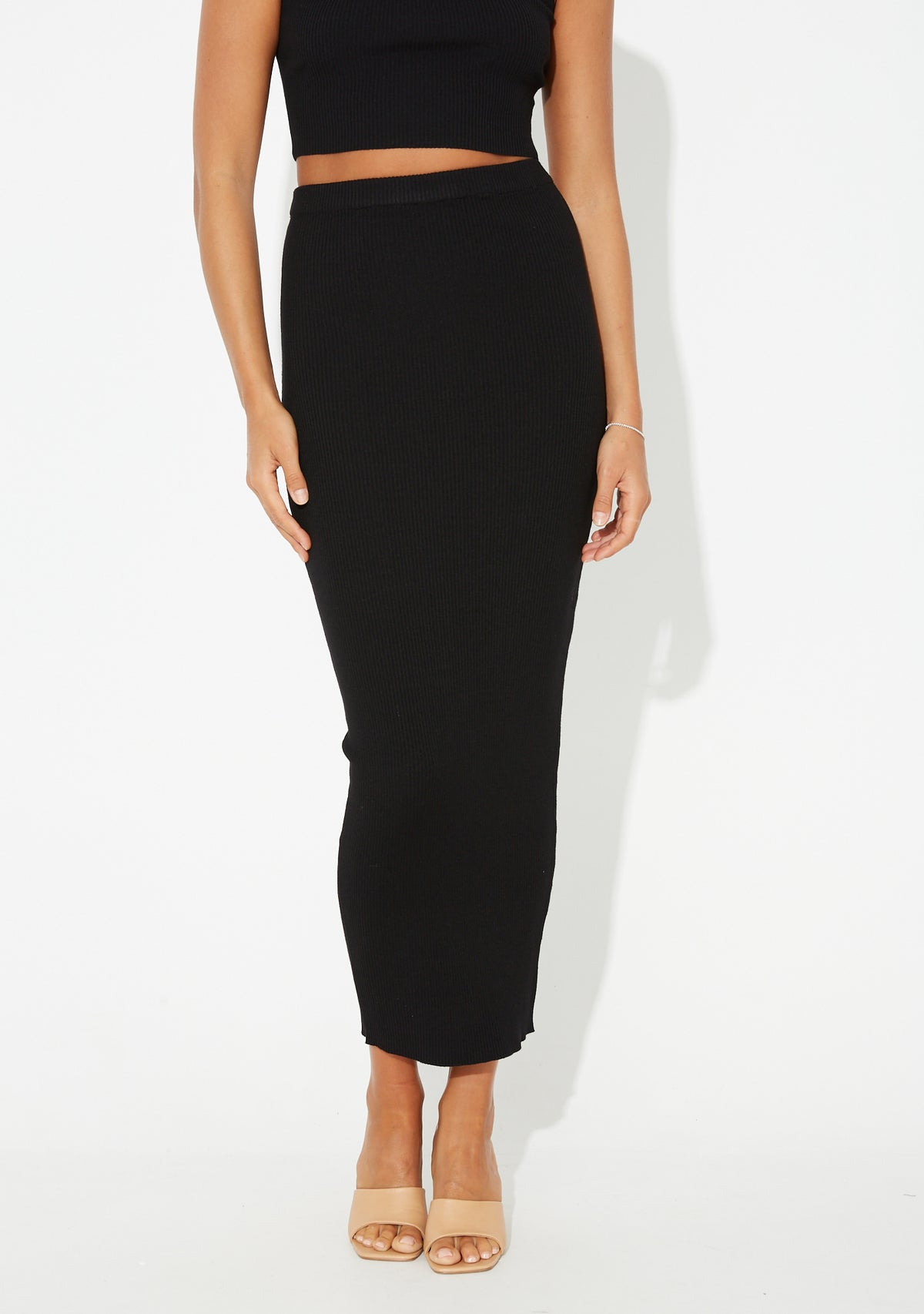 Jordyn Maxi Skirt Black