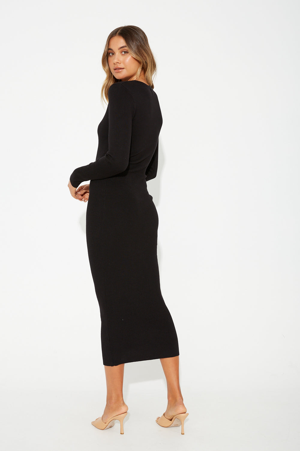 Harlow Long Sleeve Dress Black