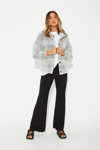 August Houndstooth Jacket Black