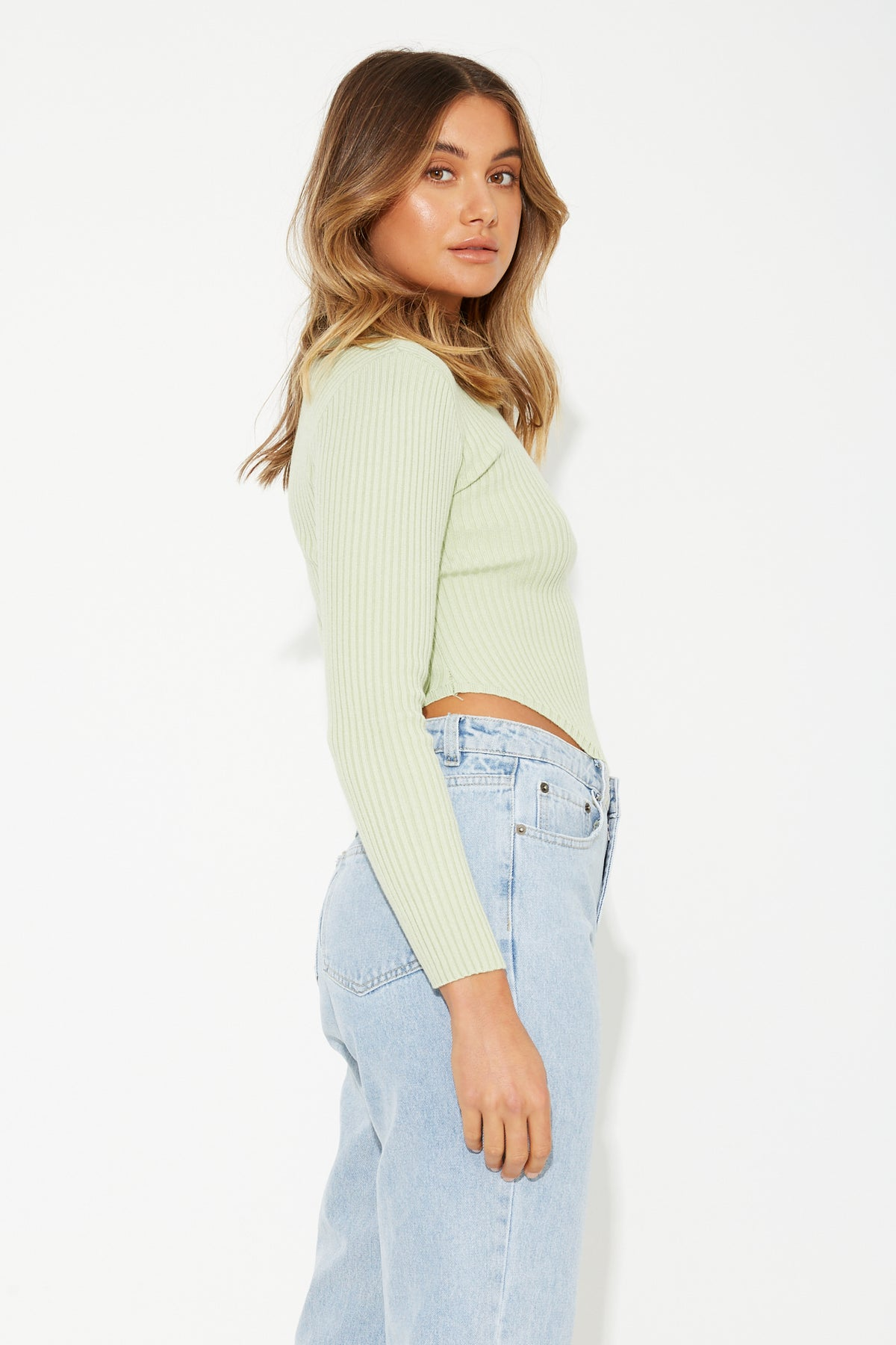Sophie Ribbed Knit Mint