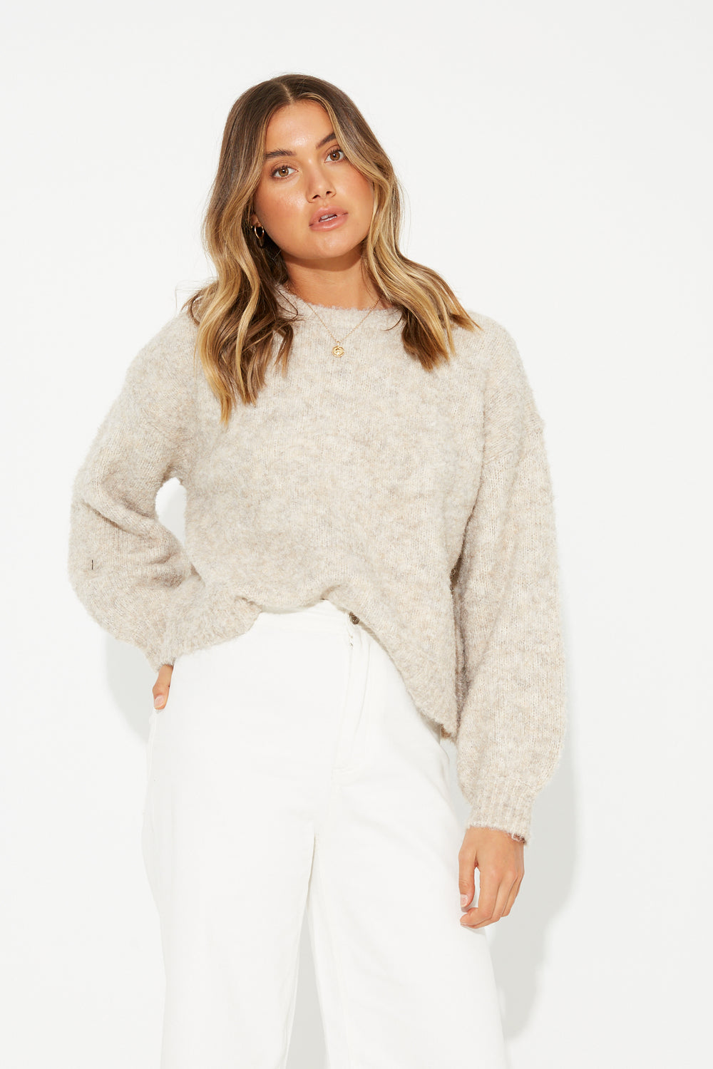 Charli Relaxed Knit Oatmeal