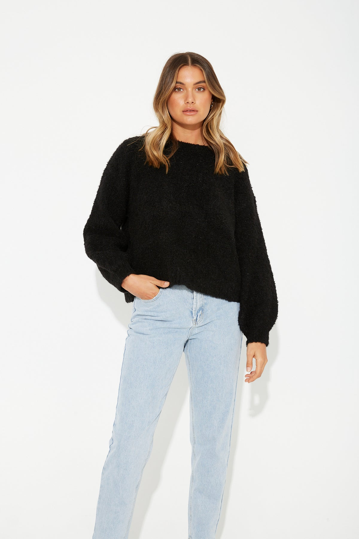 Charli Relaxed Knit Black