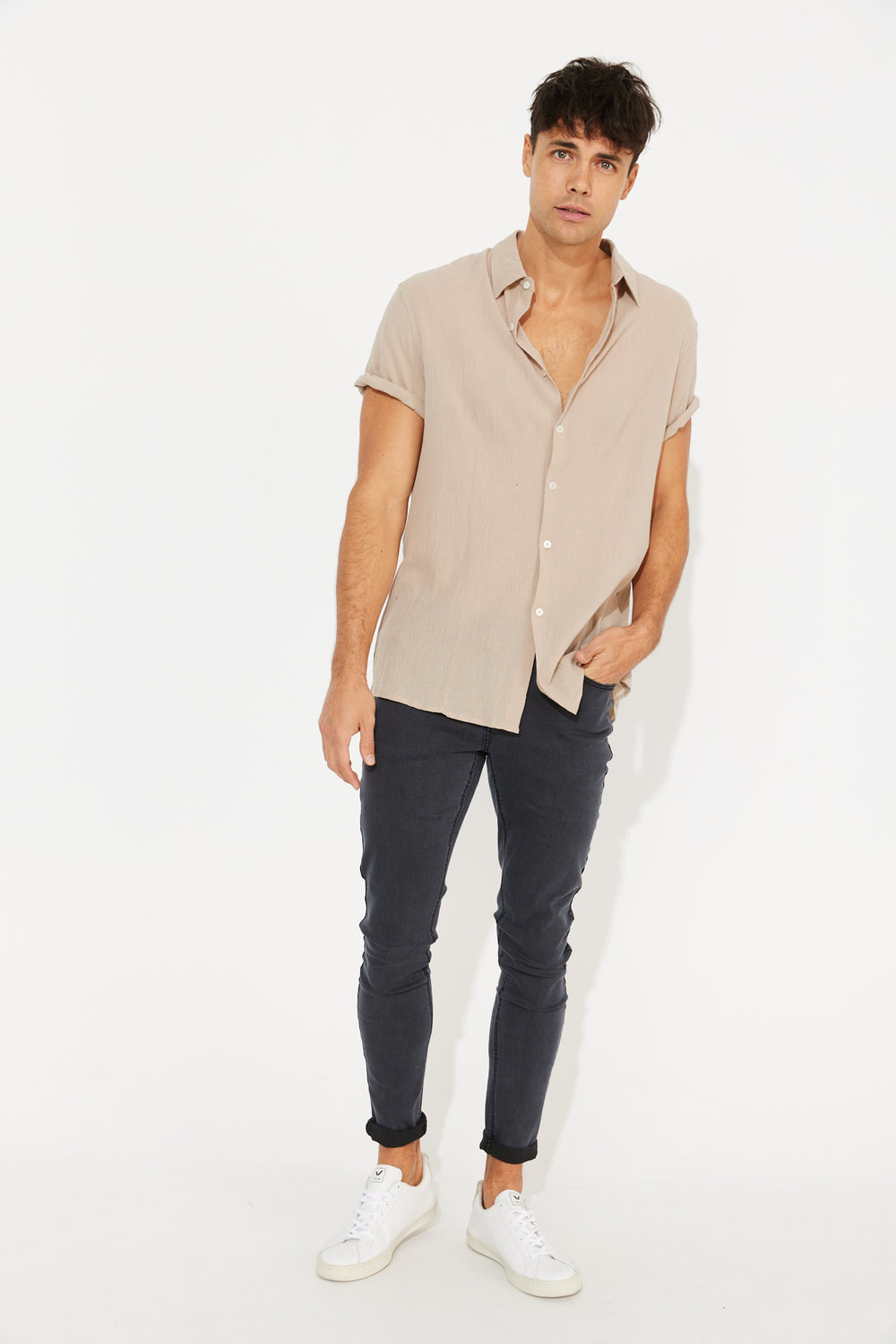 Hudson Short Sleeve Shirt Bone