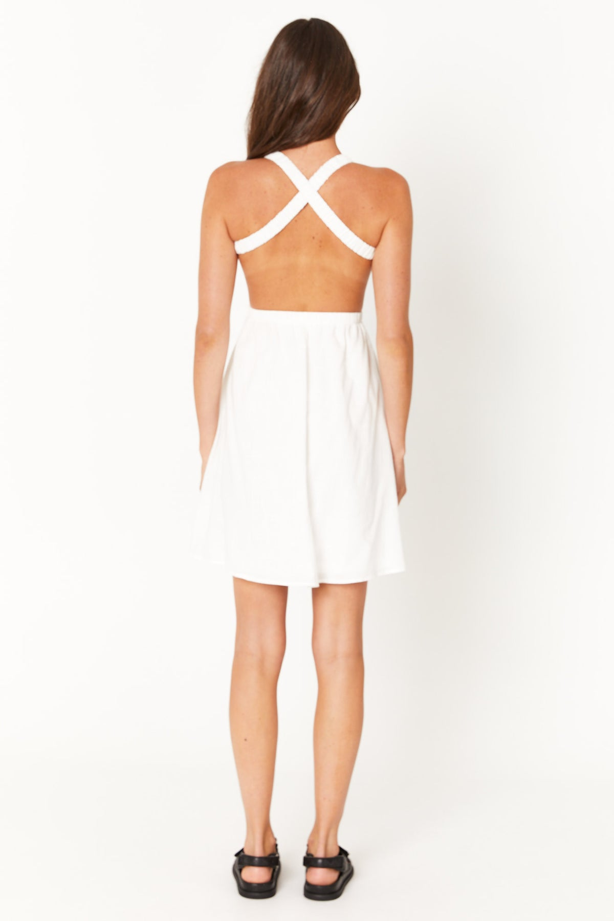 Elsie Sun Dress White